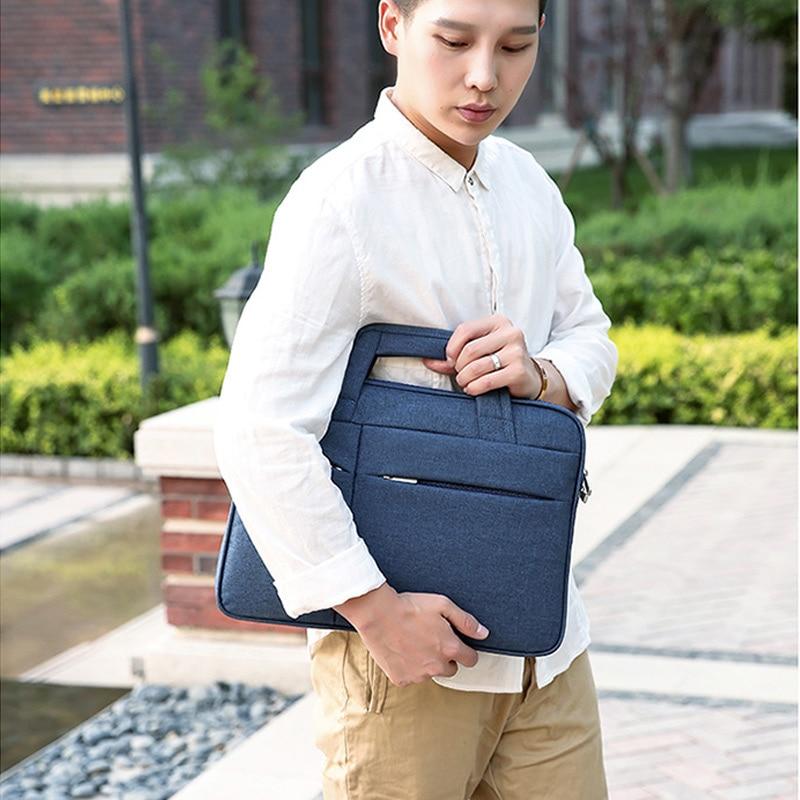 16in Men Simple Briefcase Oxford Cloth Waterproof Wear-resistant Laptop Bag H66