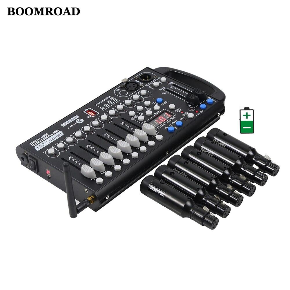 Mini Wireless Dmx Controller 192 Channels Battery Controller Rechargeable Wireless DMX512 Receiver Transmitter Wireless System