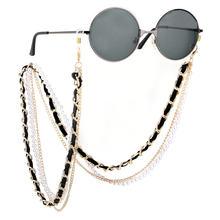 Мода белый жемчуг цепочка для очков бусы солнцезащитные очки