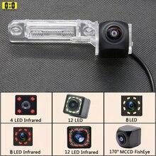 170 Wide Degree Fisheye  Backup Cam 12 IR LED HD Rear View Camera For Volkswagen VW Passat B6 CC Touran Caddy Golf Plus Touareg