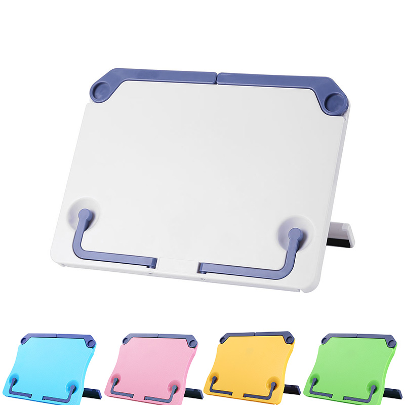 VODOOL Portable Foldable ABS Bookend Reading Book Stand Sheet Music Shelf Holder Organizer Desktop Tablet Phone Bracket Stand