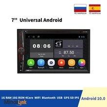Автомагнитола 2 Din, 7 дюймов, Android 10,0, FM/AM, мультимедийный видеоплеер, Bluetooth, с MP5 плеером, 1 16 Гб, 2 Din, стереоприемник, GPS, автомобильное радио
