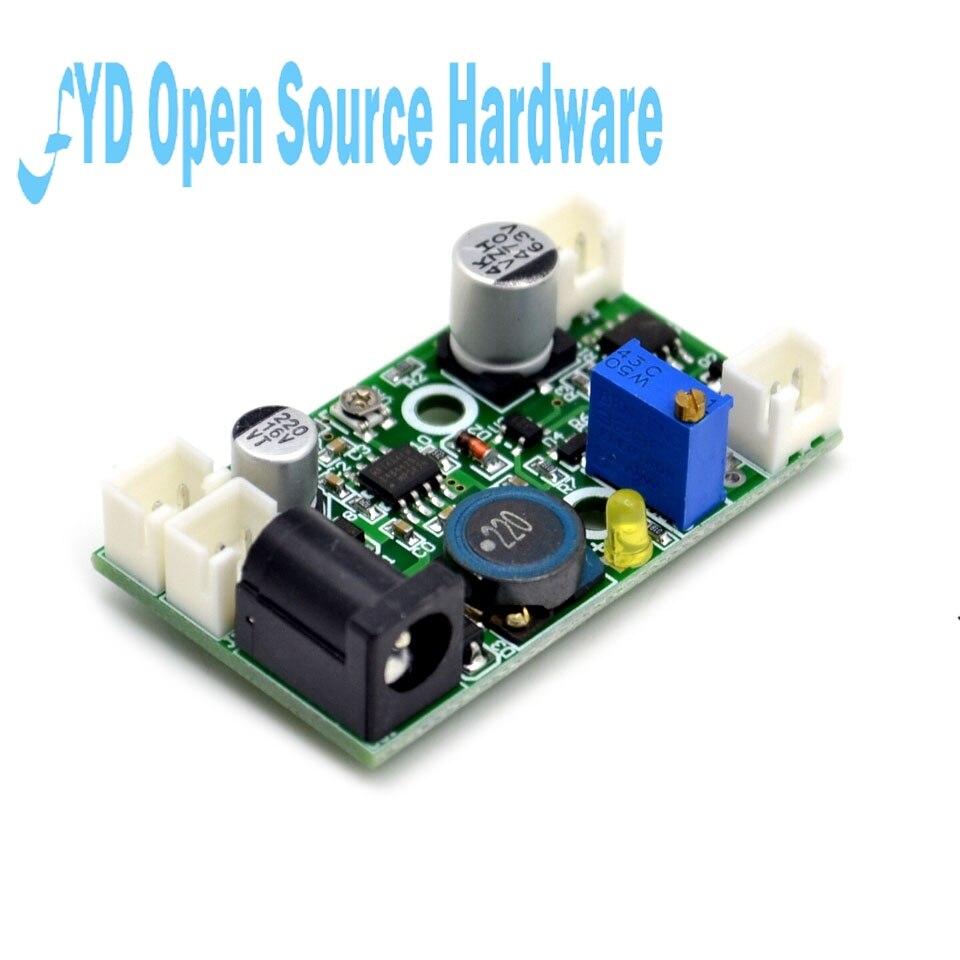 2w 405nm 445nm 450nm laser diode ld driver placa 12v step-down constante atual drive circuito de ttl modulação fonte de alimentação