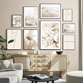 Autumn Flower Beige Classic Landscape Nordic Posters And Prints Wall Art Canvas Painting Wall Picture For Living Room Home Decor