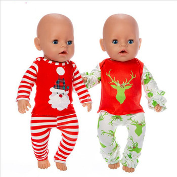 18 Inch Doll Clothes Accessories Born New Baby Santa Claus Christmas Halloween Suits for Birthday Gift