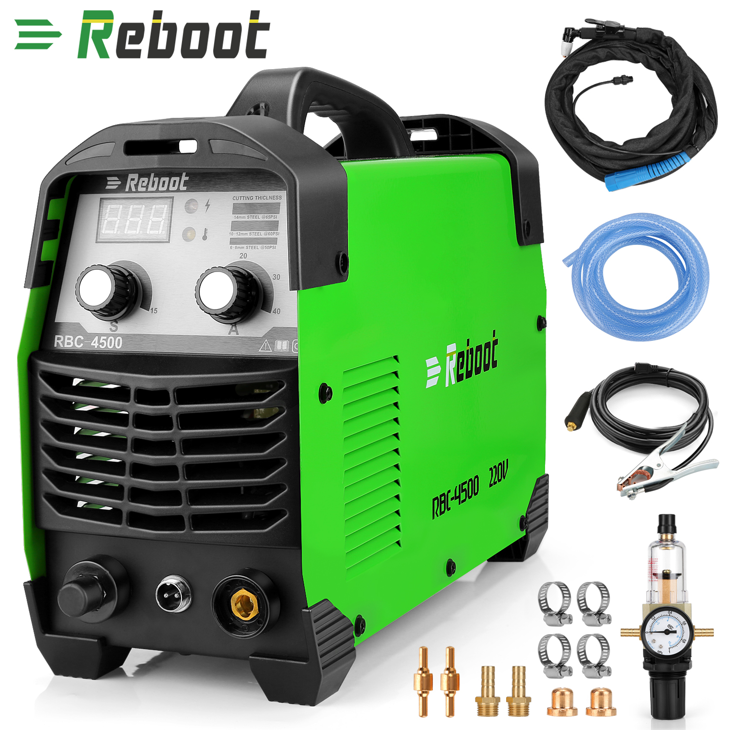 "Reboot Plasma Cutter 45Amps AC220V Voltage Compact Metal Cutter AC 1/2"" Clean Cut Inverter Cutting Machine"