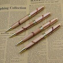 (12 Pieces/Lot) Retro Environmental Wood Ball Pens Wholesale Stationery Office and Study Pen Joy Corner