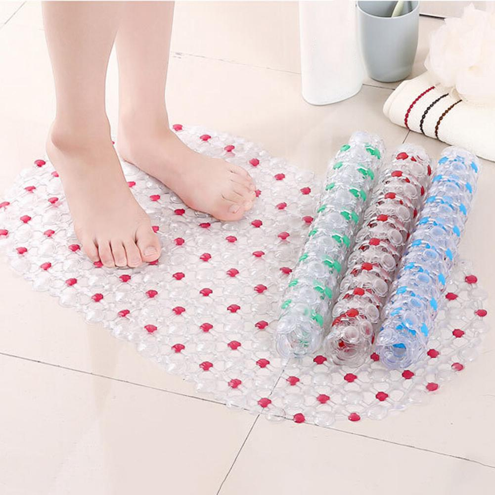 65x36cm  Shower Bath Tub Clear Bubble Mat Safety Anti-slip PVC Floor Rug Carpet Bathroom Mat Set bathroom accessories household