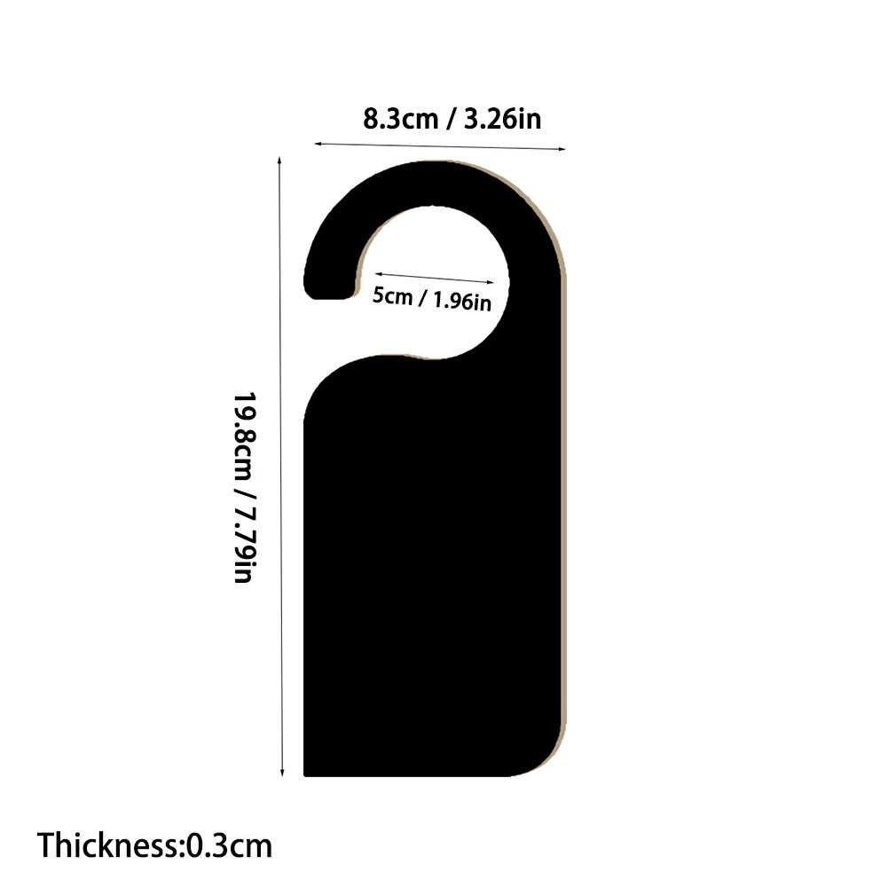 6 個木製ドア看板ハンガーミニ両面木製黒板黒板メッセージノートメモボードドアノブハンガーサイン