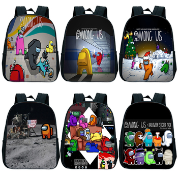 Among Us Backpack Daily School Bag For Teenage Girls Kids Multi-Function Small Bagpack Female Student Travel Backpack mini backpack women pu leather shoulder bag for teenage girls kids multi function small bagpack female ladies school backpack