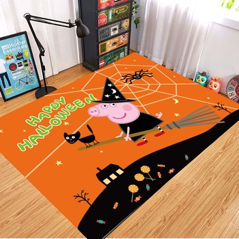 Peppa Pig Anti-slip Flannel Mat Peppa Door Mat Kid Room 3D Cartoon Floor Mat Washable Kitchen Bathroom Carpet Christmas Gift 11