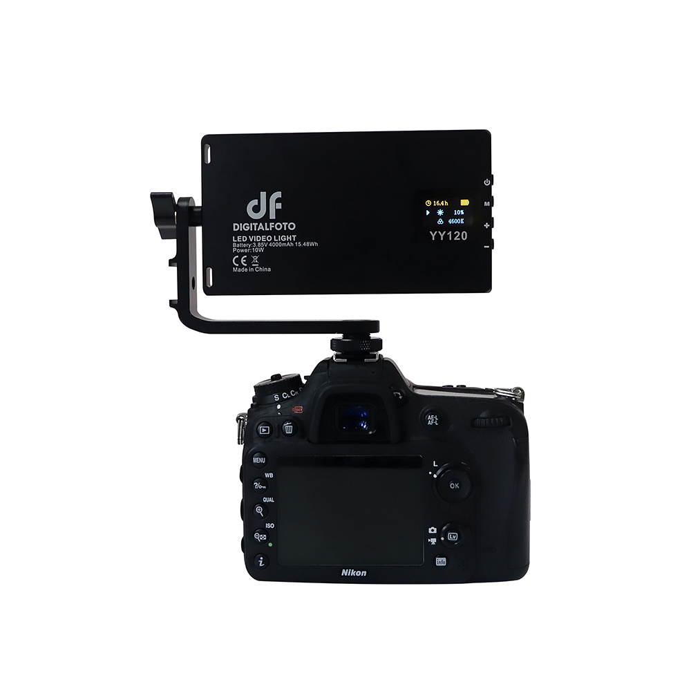 DigitalFoto YY120 LED 10W Bi color Dimbare ultra Dunne Paneel licht voor vlogging video DSLR YouTube fotostudio-in Fotografieverlichting van Consumentenelektronica op  Groep 1