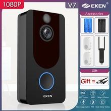 EKEN V7 Smart Doorbell Camera IP 1080P Phone Door Bell For Apartments IR Alarm Wireless Security Intercom WIFI Video Doorbell