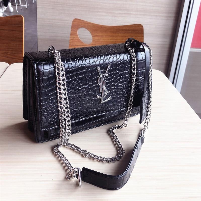 New Fashion Women's Bag High Quality Shoulder Bag Chain Pu Leather Small Square Bag Multifunctional Shoulder Diagonal Bag