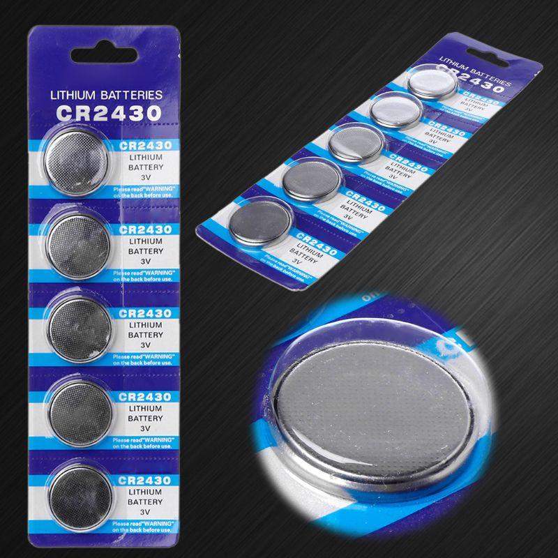 5 шт. кнопочный аккумулятор CR2430 3 в электронные литиевые батареи для монет DL2430 BR2430 ECR2430 KL2430 EE6229 Часы игрушки наушники