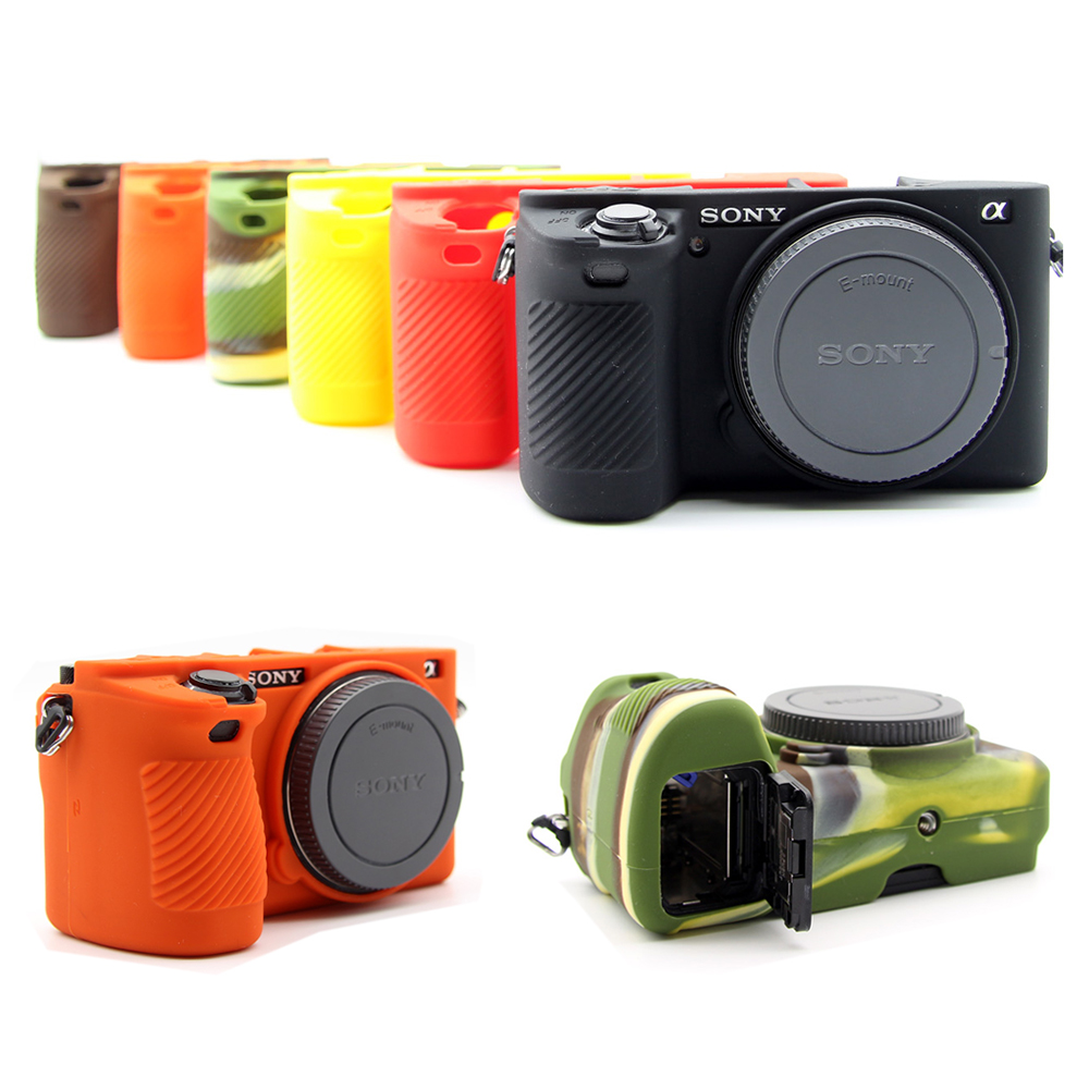 Rubber Silicon Case Body Cover Protector Skin for <font><b>Sony</b></font> A6500 ILCE-<font><b>6500</b></font> A6000 A5000 A5100 <font><b>Camera</b></font> bag protective shell pouch image