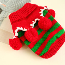Pet-Clothing Christmas-Sweater Dogs Knitting Chihuahua Small Winter Xmas Warm for Coat