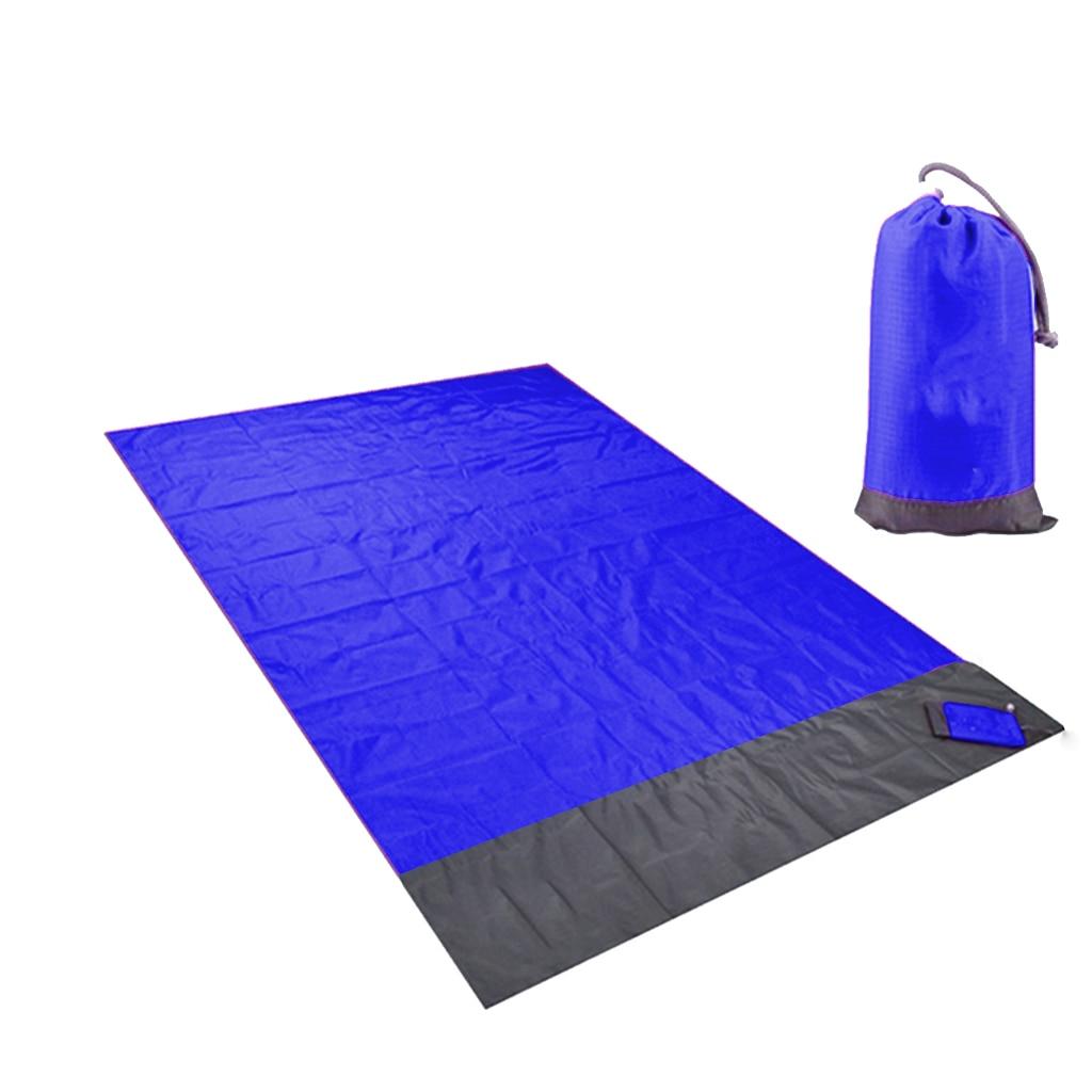 Waterproof Beach Blanket Waterproof Sandproof Portable Pocket Picnic Mats for 3-7 Person