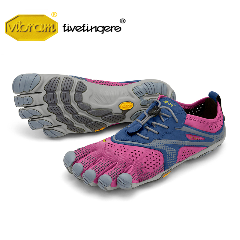 Vibram Fivefingers 2020V-RUN women Outdoor Sports Road Running Shoes Five fingers Breathable Wear resistant Five-toed Sneakers