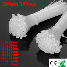 100pcs 50pcs 5*150 5*200/250 5*300/350 5*400 Network Wire Nylon Plastic Self-locking Cable Zip Tie wire tie teraysun 100pcs 5 0 5 0mm round tube abs plastic pipe jyg 5 0 50cm length