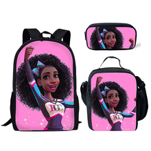 Thikin 2019 Hot Sale African Cool Girl Collection School Bags for Boys School Backpack for Girls Kids Bookbag Anime Schoolbag цена