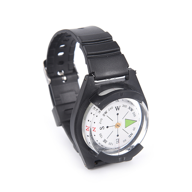 2018 High Quality Hiking Watch Black Band Tactical Wrist Compass For Military Outdoor Survival Camping 1