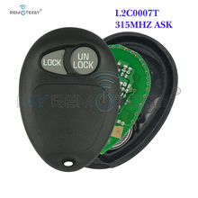 Remtekey L2C0007T remote key fob 2 Buttons 315MHz ASK for BUICK GL8  Car Key fob 2 1 buttons smart keyless remote car key fob 315mhz for hyundai elantra tucson santa fe 3 buttons replacement key transmitter