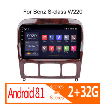 autoradio android 2+32G for benz s-class 1998-2005 S Class w200 W220 S280 S320 S350 S400 S430 S500 S600 AMG car radio coche auto image