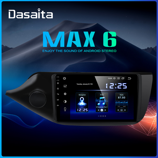 "Dasaita 9 ""IPS ekran araba Android 9.0 TDA7850 Kia ceed radyo 2012 2013 2014 2015 2016 otomatik Stereo navigasyon 64G ROM MAX6"