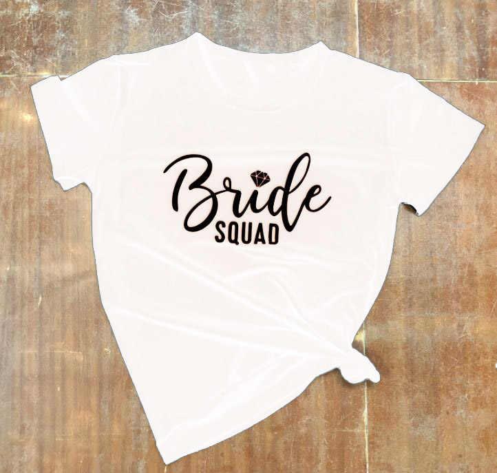 Baumwolle T Ästhetischen Grafik Shirts Braut Diamant Brief Gedruckt T-Shirt Braut Diamant Squad Gekoppelt Trägershirt-feminist Geschenk