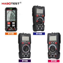 Multimètre numérique professionnel HT112B gamme automatique intelligente 600V Mini voltmètre testeur de batterie véritable RMS capacité Amp NCV détecteur