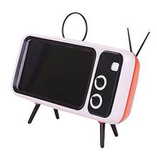 Creative Retro Tv Style Mobile Phone Bracket Card Wireless Speaker Outdoor Wireless Audio Professional(China)