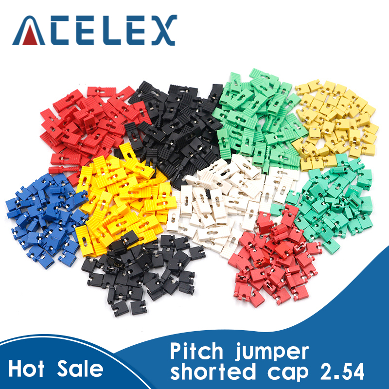 50pcs 2.54mm Pitch Jumper Cap Pin Header Connector Short / Long Type Jumper Plug Cover DIY Repair Parts|Instrument Parts & Accessories|   - AliExpress