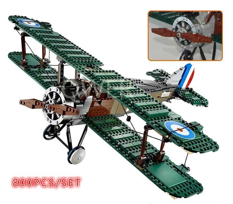 EXCLUSIVE Sopwith Camel Fit LeGINGlys 10226 Collection Series Toy Blocks Kits Blocks Bricks Child Toy Birthday Diy Gift