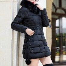 OEAK Fashion Winter Jacket Women Big Fur Hooded Thick Down Parkas Long Female Ja