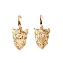 Luokey Vintage Boho Dangle Earrings For Women Ethnic Exaggerated Eye Of God Drop Earring Personality Retro Wedding Party Jewelry luokey women exaggerated dangle earrings geometric ethnic vintage statement earrings hollow bridal party wedding jewelry brincos
