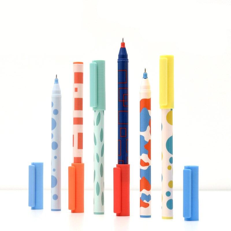 JIANWU 3 pièces/ensemble 0.5mm KACO Simple à séchage rapide Gel stylo mignon couleur encre ensemble Signature stylo étudiant école fournitures de bureau