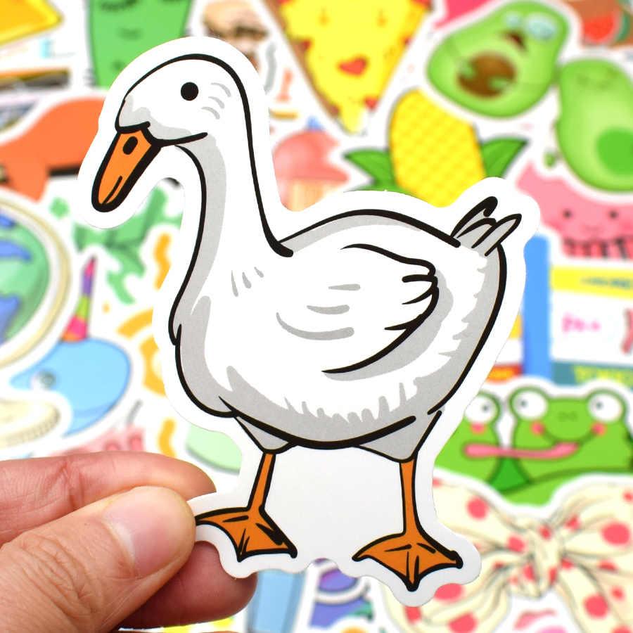 50 Uds pegatinas de dibujos animados VSCO para niños juguete Rosa chica Kawaii pegatina para DIY maleta Laptop Tabla de Skate de nevera teléfono coche pegatinas