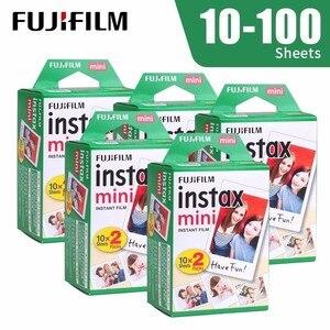 Image 1 - Fujifilm Instax Mini 9 Film bordo bianco 10 20 40 60 100 fogli/pacchi carta fotografica per Fuji fotocamera istantanea 8/7s/11/25/50/90/sp 2