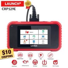 Lanzamiento X431 CRP129E obd2 eobd código lector escáner soporte motor ABS SRS AT + aceite de freno SAS ETS TMPS reinicio CRP 129E actualización gratuita