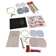 lace fabric DIY Embroidery Bag Needlework Materials Kits Set Hand-Made Swing Craft Gift lace(China)