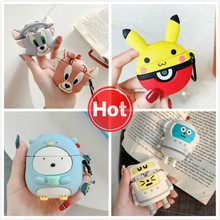3D Cute Cartoon Earphone Case For Airpods 2 Silicone Cat Mouse Cover for Apple Air pods Earpods Accessories Strap Bag