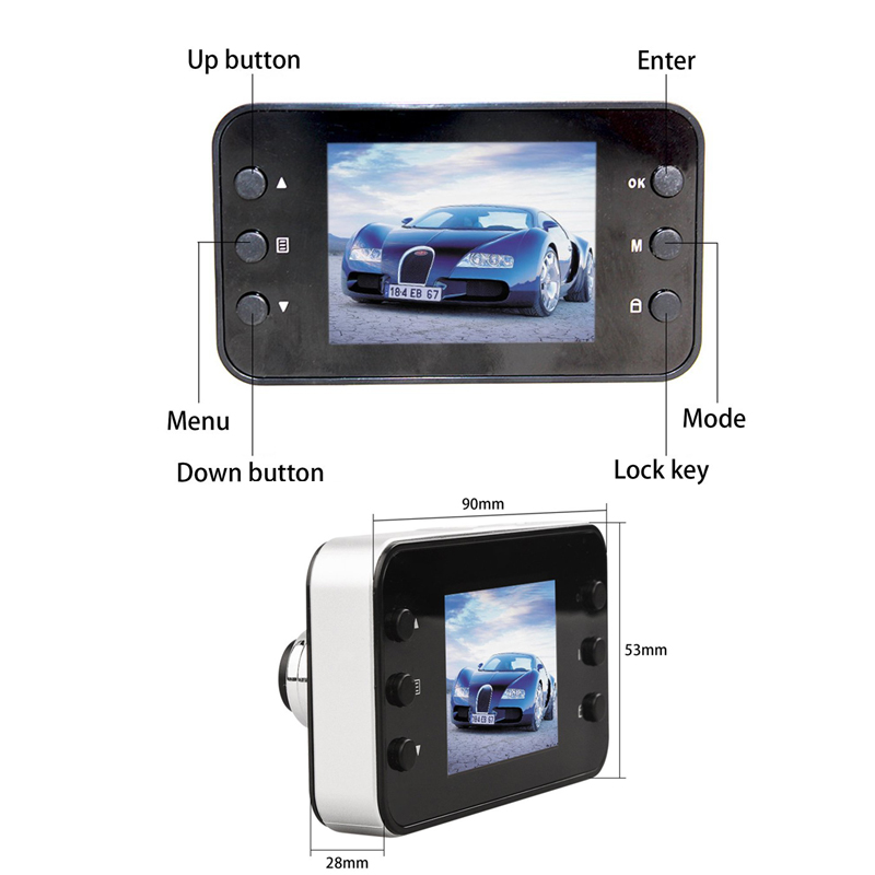 2018 <font><b>K6000</b></font> <font><b>Car</b></font> <font><b>DVR</b></font> 1080P Full HD Video Recorder Dashboard Camera LED Night Vision Video Registrator Dashcam Support TF Card image