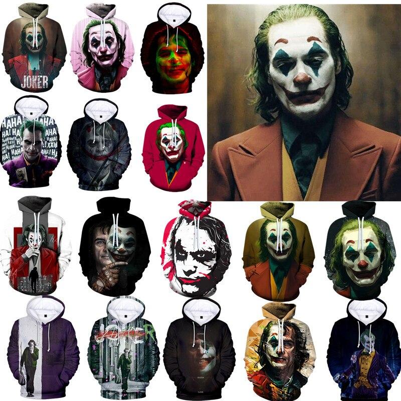 Movie Joker Joaquin Phoenix Joker Cosplay Costume Top Hoodie Sweatshirt Halloween Cosplay Costume Props