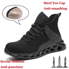 Safety-Shoes Sneakers Shoe-Work-Boots Steel-Toe Toe-Indestructible Waterproof with Metal