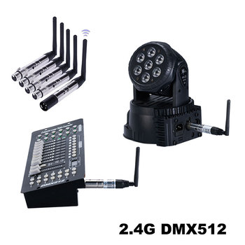 цена на DMX512 wireless signal transmitter and receiver, wireless controller for stage lighting, adapter 1 transmitter + 4 receiver