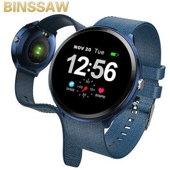 BINSSAW Mens Smart Watches Waterproof Sports Smartwatch Heart Rate Monitor Smart Wrist Watch Women Fitness Tracker Wristband
