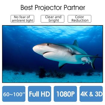 Portable Projector Screen 60 72 84 Inch 4:3 HD Foldable Anti-Crease  Projection Movies Screen For Home Theater Outdoor newpal 150 inch projector screen 4 3 16 9 foldable projector screen for outdoor and home cinema movies