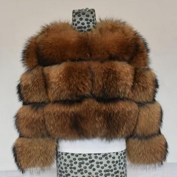 2020 Winter New Natural Fox Fur Coat Short Section Warm Thickening Real Jacket Fashion Luxury Slim Women