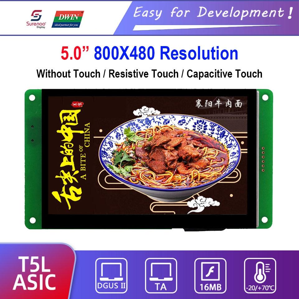 Dwin T5L HMI Intelligent Display, DMG80480C050_03W 5.0